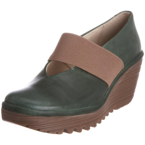 Fly London Women's Yale Wedge Sandal Leather Green P500172024 7 UK