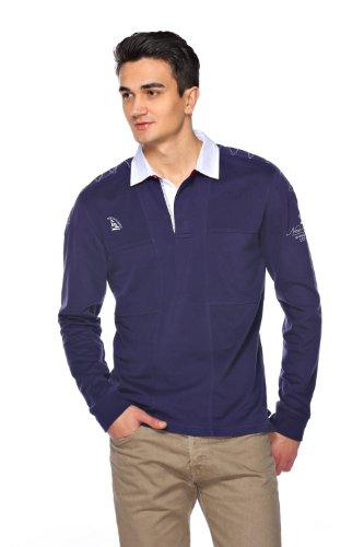 Sweat Maglietta T-Shirt Polo Felpa manica lunga per uomo di M.Conte Munoz blu M