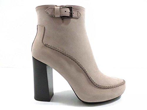 scarpe donna TOD'S 35 EU stivaletti beige pelle scamosciata az560