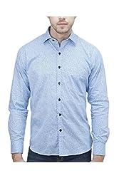 Unixx Men's Casual Shirt (UXXS-19_Blue_44)