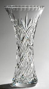 Crystal Waisted Vase - 27 cm