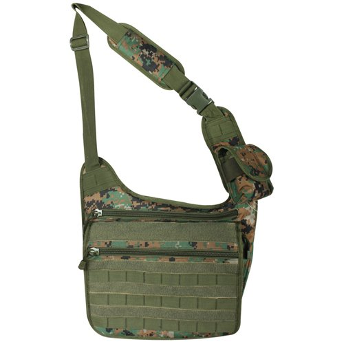 Fox Outdoor Products Tactical Messenger Bag - Woodland Digital Camo - Fox Outdoor Products