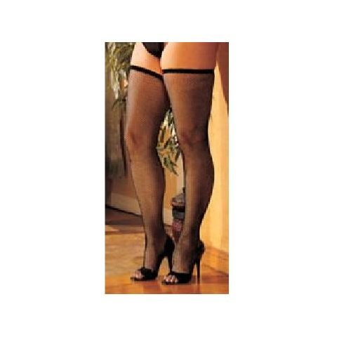 Plus Size HOT Fishnet Thigh High Stockings COLOR CHOICES Black, Red or White