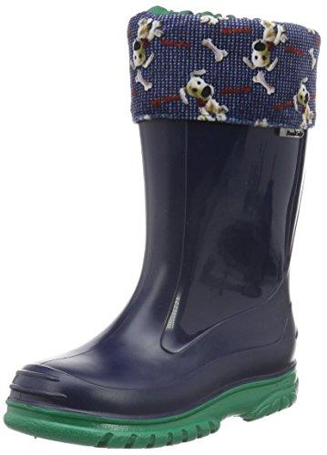 RomikaBello - Stivali di gomma Unisex - Bambini , Blu (Blau (Marine-Jade 587)), 26