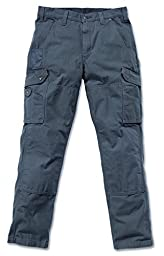 Carhartt Men\'s Cotton Ripstop Relaxed Fit Work Pant, Gravel, 33W  X 34L