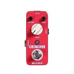 Mooer Cruncher, high gain distortion micro pedal by Mooer