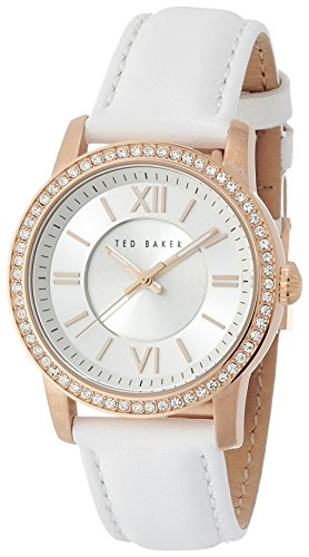 Ted Baker Three-Hand Leather - White Women's watch #TE2112