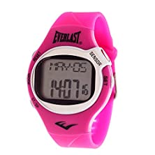 buy Everlast 'Heart Rate Monitor' Automatic Plastic And Rubber Fitness Watch, Color:Pink (Model: Evwhr005Pk)