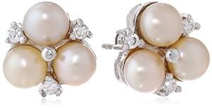 Bella Pearl Pink Cluster Earrings
