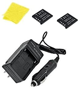 Casio NP60, Z90BE, Z90BK Digital Replacement Battery Plus Travel Charger