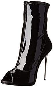 Giuseppe Zanotti Women's Stretch Leather Peep Toe Boot,Lounge Nero,6 M US
