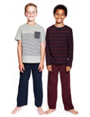 2 Pack Autograph Cotton Rich Striped Pyjamas
