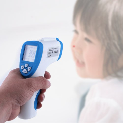 Andoer Digital LCD Infrarot Thermometer Baby Stirn Fieberthermometer Babythermometer Berührungslos Oberflaechetemperatur Messer 32,0 ~ 43,0 ?