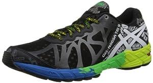 ASICS Men's Gel-Noosa Tri 9 Running Shoe,Black/White/Flash Green,9 M US