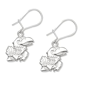 Buy Logo Art Kansas Jayhawks Sterling Silver Team Logo 7 16 Dangle Earrings by Logo Art