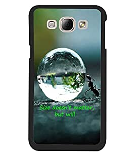 ColourCraft Inspirational Quote Design Back Case Cover for SAMSUNG GALAXY A8