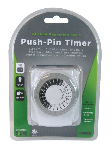 Prime Wire & Cable Tni2412 1-Outlet Push Pin Timer