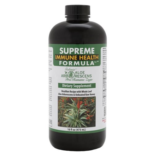Supreme Immune Health Formula (original Brazilian Father Zago Aloe arborescens recipe) 16oz bottle (1) (Aloe Arborescens Juice compare prices)