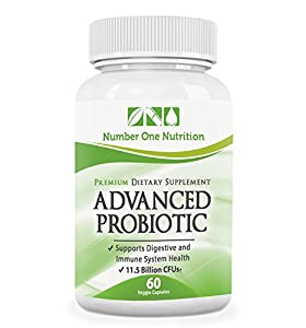 #1 Probiotic Supplement - All Natural Formula Promotes Optimal Health for Women, Men, and Kids. Improve Immune System Function, Colon Health, and Digestion! Safe Formula with Lactobacillus, Acidophilus, and Billions of Live Cultures and Intestinal Flora in Every Serving. Number One Nutrition Advanced Probiotic Supplements are 100% Vegetarian with No Known Side Effects! Experience Dramatically Improved Health or 200% Money Back Guarantee.