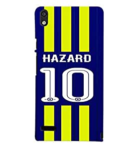PRINTVISA Football Hazard Case Cover for Huawei Ascend P6