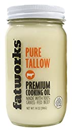 Beef Tallow, Grass-Fed, Kettle Rendered and Fine Filtered, 14oz