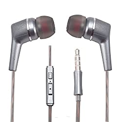 With Volume Controller and MIC Function Perfumed Fragranced and Scented Curved Design Handsfree Earphone 3.5 MM Jack for BlackBerry Porsche Design P'9531 -Gray