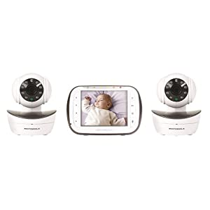 "Motorola Digital Video Baby Monitor (Newest Model) with 3.5"" Color Screen and Two Wireless Cameras with Pan, Tilt & Zoom - Mbp43/2"