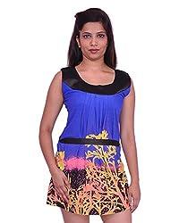 Jevaraz Women's Dress (Blue, L)