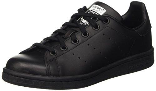 Adidas Stan Smith J Scarpe da basketball, Unisex bambini, Nero (Black/Black/Ftwwht), 38 2/3