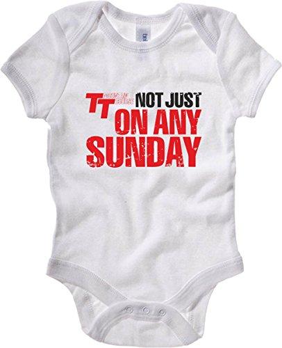 T-Shirtshock - Body neonato TB0447 Isle Tt Not Just Any Sunday Motard, Taglia 18-24mesi