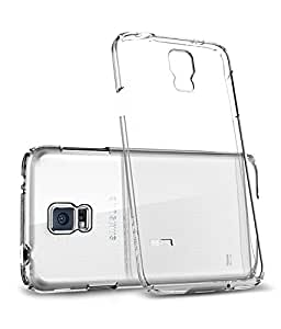 Tos Premium Quality Back Cover For Samsung Galaxy S5 Clear/transparent Silicon Cover And OTG Cable Combo