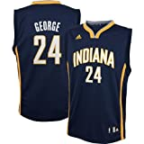 Paul George Indiana Pacers #24 NBA Youth Road Jersey Navy (Youth Medium 10/12) at Amazon.com