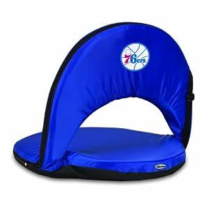 NBA Philadelphia 76ers Oniva Portable Reclining Seat, Navy by Picnic Time