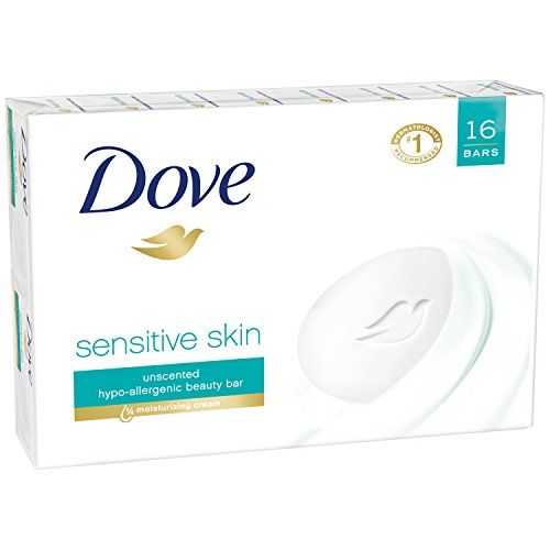 Dove Beauty Bar, Sensitive Skin 4 oz, 16 Bar (Deals On Hotels compare prices)