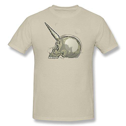 Facai Men'S Manicorn Boy Cotton Round Collar T Shirt Xs Natural