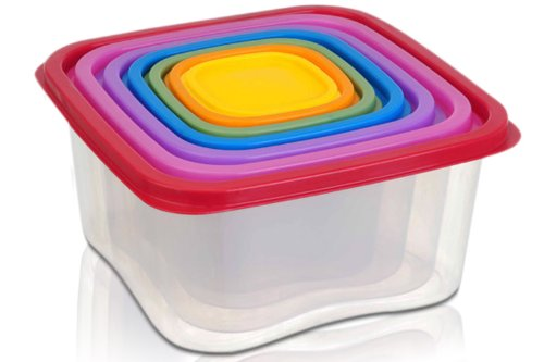 14 Piece Food Storage Containers - Multi Colored Food Storage Sets - BPA Free -- Freezer and Microwave Safe Food Storage Containers With Lids - Also Works As An All In One Food Storage Container Organ