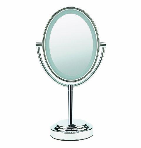 Conair Oval Double-Sided Illuminated Mirror, Polished Chrome Finish