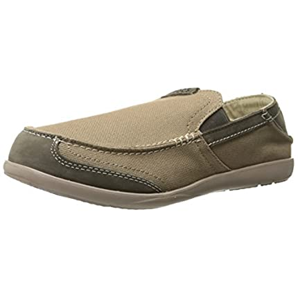 crocs Men's Walu Express Loafer,Khaki/Mushroom,9 M...
