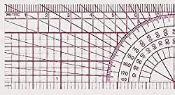 C-Thru Beveled Protractor Ruler B-75