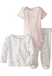 Vitamins Baby Baby-Girls Infant Floral Print 3 Piece Cardigan Pant Set