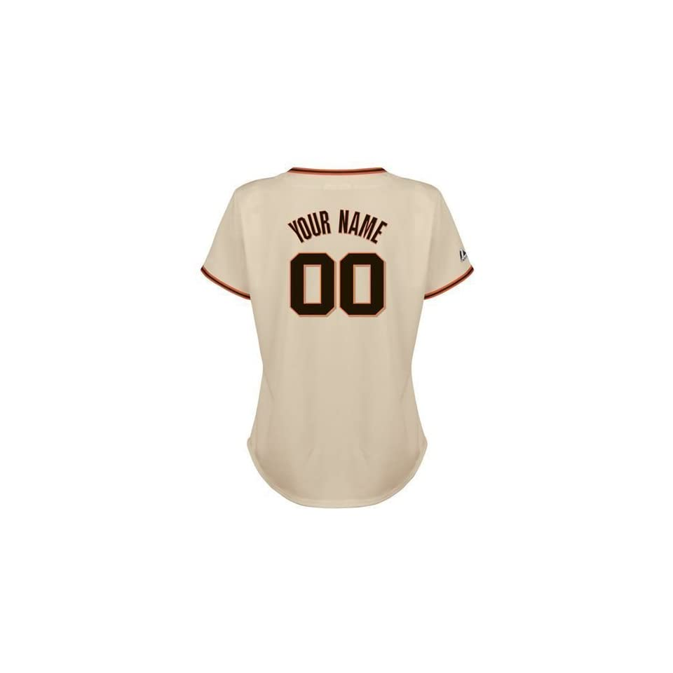 San Francisco Giants Replica Home Personalized Majestic Womens MLB Jersey