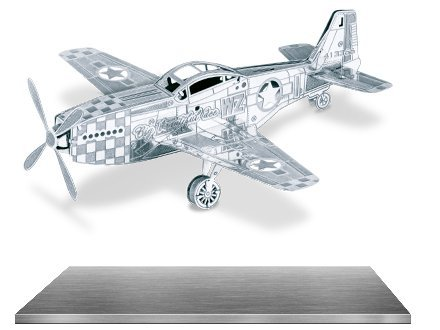 Metal Earth 3D Laser Cut Models - Avro Lancaster Bomber AND P-51 Mustang WWII Airplanes = SET OF 2
