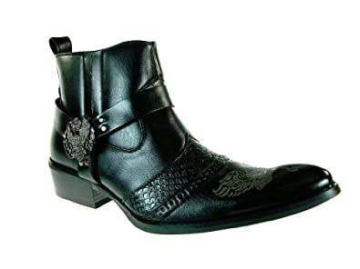 Alfa Men's M1768 Ankle High Western Boot, Black, 7.5