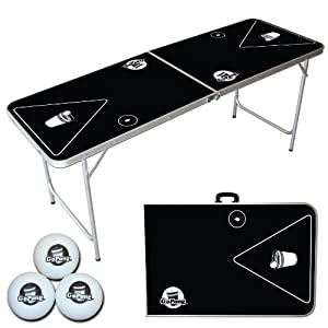 Go Pong 6-Foot Portable Folding Beer Pong / Flip Cup Table (6 balls included)