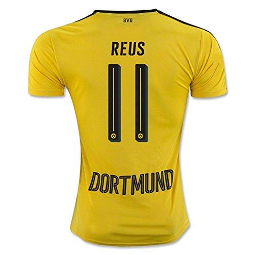 20162017Borussia Dortmund maglietta 11Marco Reus maglia da calcio Home Kit in giallo, Uomo, Yellow, L