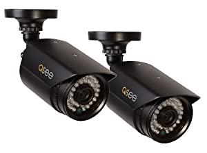 Q-See QM9702B-2 High-Resolution 960H/700TVL Weatherproof Cameras with 100-Feet Night Vision, 2 Pack (Black)