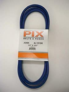 "1/2"" X 101"" Pix Kevlar Corded Belt, Use For Craftsman Poulan Husqvarna 429636, 197253...Also John Deere M84136, M87323 by Pix"