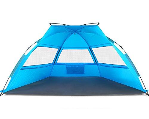 Tagvo-Pop-Up-Beach-Tent-Sun-Shelter-Easy-Set-Up-Tear-Down-Fiberglass-Frame-Lightweight-47lb-Compact-Instant-Beach-Canopy-UPF-50-Sun-Protection-3-Zipper-Screen-Windows-Ventilation-Easy-Up-Sun-Shade