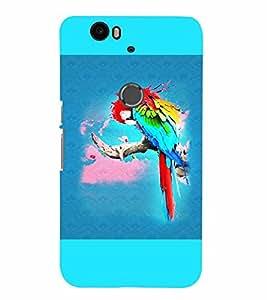 PrintVisa Birds Parrot Colorful 3D Hard Polycarbonate Designer Back Case Cover for Huawei Google Nexus 6P