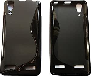 Smart Choice Anti-skid Soft TPU Back Case Cover for Lenovo A6000 Plus (Black)